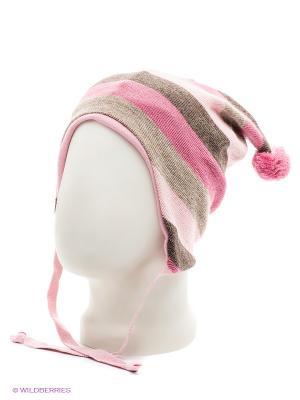 Шапка Kivat. Цвет: розовый, бежевый, бледно-розовый
