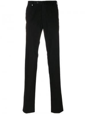 Прямые брюки Corneliani. Цвет: чёрный