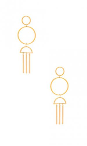 Золотые серьги uproar Vanessa Mooney. Цвет: металлический золотой