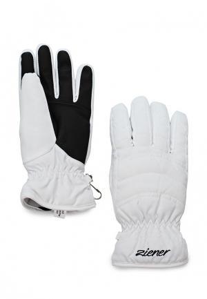 Перчатки Ziener. Цвет: белый
