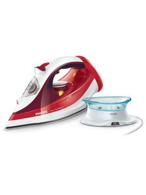 Беспроводной паровой утюг Philips Azur FreeMotion GC4595/40. Цвет: красный, белый