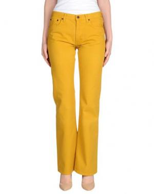 Джинсовые брюки MIU. Цвет: охра