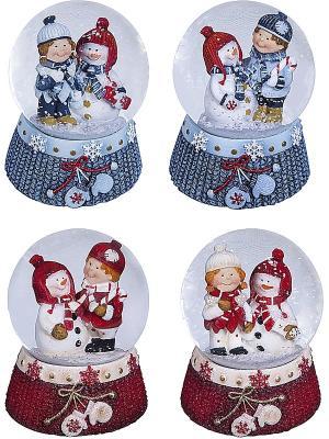 Снежный шар Mister Christmas. Цвет: голубой, красный