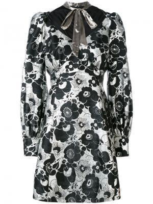 Платье с цветочным принтом Marc Jacobs. Цвет: чёрный