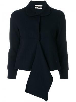 Укороченный пиджак с оборкой Hache. Цвет: чёрный