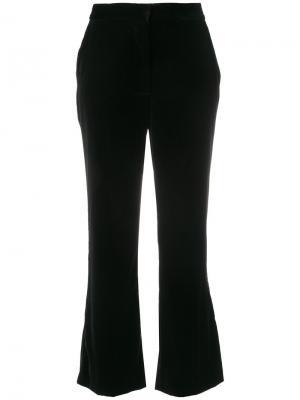 Укороченные брюки клеш Stella McCartney. Цвет: чёрный