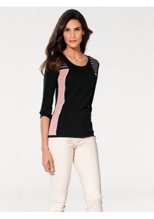 Пуловер Ashley Brooke. Цвет: черный/розовый