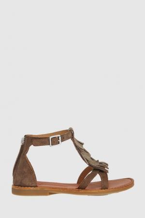 Замшевые сандалии Shwik. Цвет: бежевый