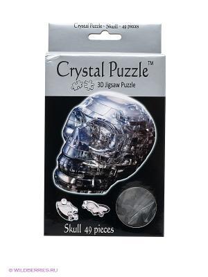3D головоломка Череп Crystal puzzle. Цвет: черный