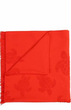 Пляжное полотенце Vilebrequin. Цвет: красный