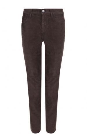 Укороченные вельветовые джинсы Current/Elliott. Цвет: темно-серый