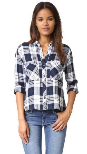 Рубашка на пуговицах Dylan RAILS. Цвет: белый/темно-синий/лес