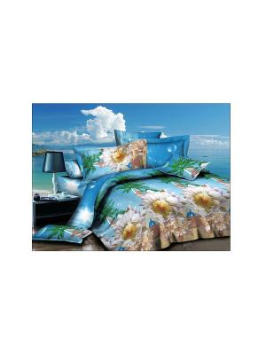 Комплект постельного белья  СОФТ-САТИН ДУЭТ СЕМЕЙНЫЙ (2 пододеяльника), диз т19-03 Dorothy's Нome. Цвет: зеленый, голубой, белый