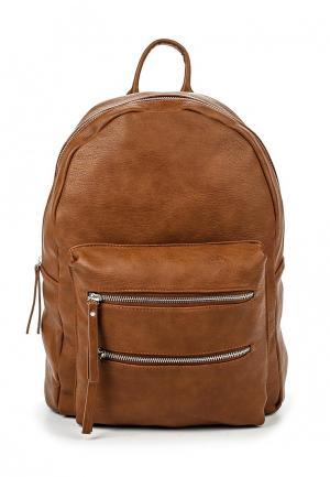Рюкзак Pieces. Цвет: коричневый