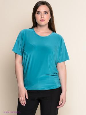 Блуза ОДЕКС-СТИЛЬ. Цвет: бирюзовый