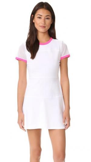 Теннисное платье Club Monreal London. Цвет: белый