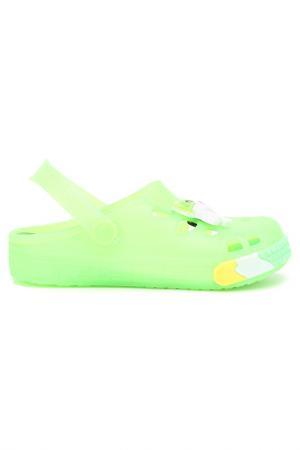 Пляжная обувь MURSU. Цвет: салатовый