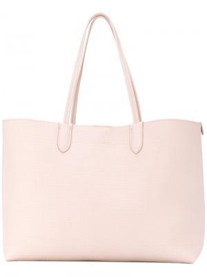 Большая сумка-шоппер Alexander McQueen. Цвет: телесный