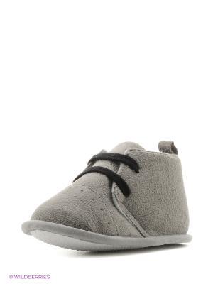 Пинетки Классические ботиночки, 1 пара Luvable Friends. Цвет: серый