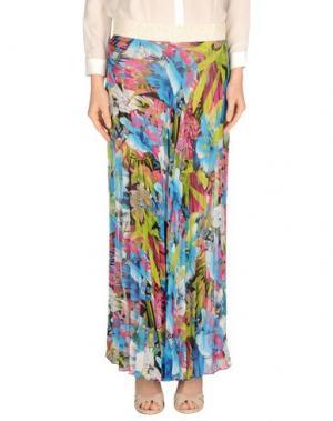 Длинная юбка MY SIS. Цвет: лазурный