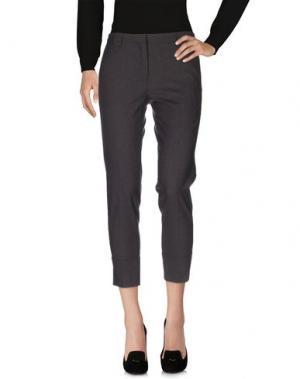 Повседневные брюки ANTONELLI. Цвет: стальной серый