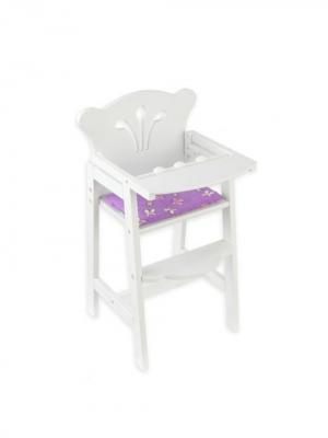 Кукольный стульчик для кормления KidKraft. Цвет: белый