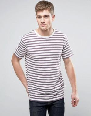 Brooklyn Supply Co. Сливовая футболка в бретонскую полоску Co. Цвет: фиолетовый