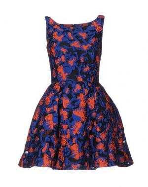Короткое платье MARY KATRANTZOU. Цвет: синий