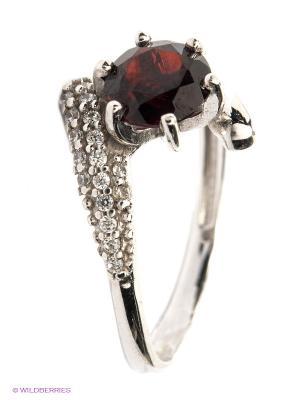 Кольцо Lovely Jewelry. Цвет: бордовый, серебристый