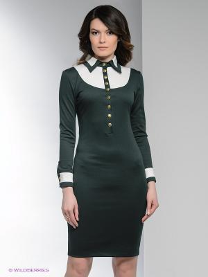 Платье Enna Levoni. Цвет: зеленый, белый