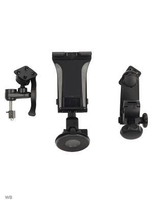 Держатель для планшета/iPad на стекло/торпеду/подголовник/вентиляцию KDS-WIIIX-01TVP WIIIX. Цвет: черный