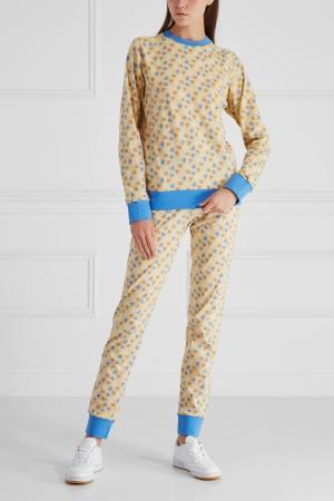 Хлопковая пижама BLANK.MOSCOW. Цвет: желтый, голубой
