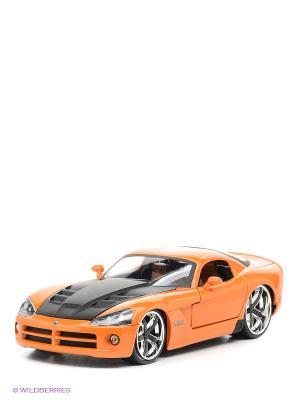 Машина 2008 Dodge Viper  SRT/10 Ribbon 5 Jada. Цвет: оранжевый