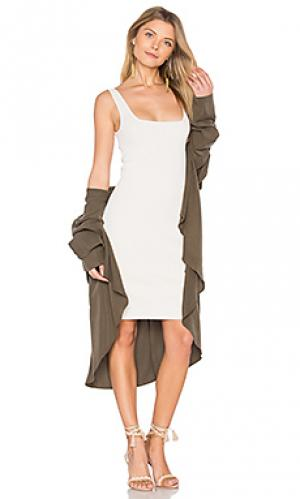 Облегающее мини-платье Autumn Cashmere. Цвет: серый