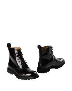 Полусапоги и высокие ботинки EDWA. Цвет: баклажанный