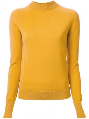 Джемпер с высокой горловиной Lemaire. Цвет: жёлтый и оранжевый