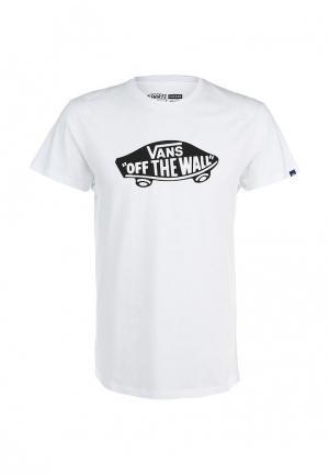 Футболка Vans. Цвет: белый