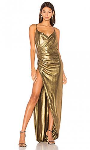 Вечернее платье kotahi Gemeli Power. Цвет: металлический золотой