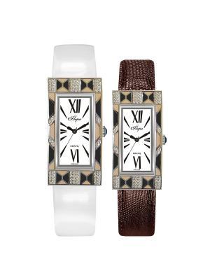 Часы Mikhail Moskvin. Цвет: коричневый, светло-коричневый, серебристый