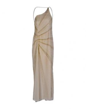 Длинное платье LA KORE. Цвет: бежевый