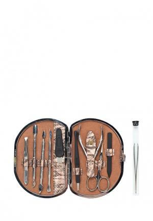 Набор маникюрный Zinger. Цвет: серебряный
