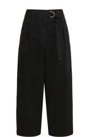 Укороченные широкие брюки с поясом T by Alexander Wang. Цвет: черный