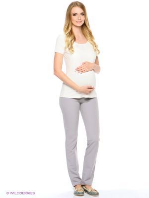 Футболка для беременных 40 недель. Цвет: молочный