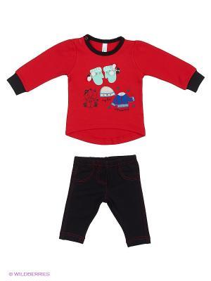 Комплект Mini Midi. Цвет: красный, черный