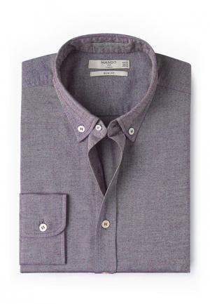 Рубашка Mango Man. Цвет: фиолетовый