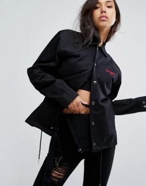 Wasted Paris Свободная спортивная куртка. Цвет: черный