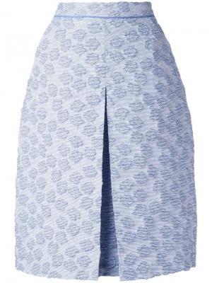 Текстурированная юбка Odeeh. Цвет: синий