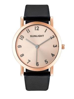 Часы наручные Sunlight. Цвет: черный, золотистый