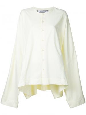 Рубашка свободного кроя Eckhaus Latta. Цвет: жёлтый и оранжевый