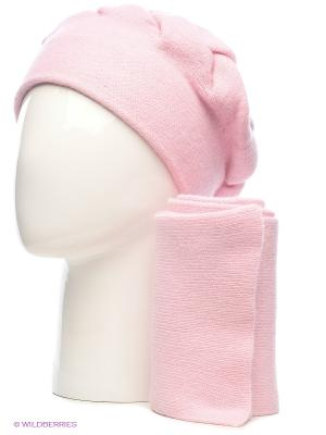 Шапка, шарф Vittorio Richi. Цвет: бледно-розовый